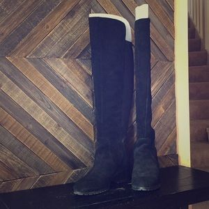 H by Halston Over The Knee Suede Boots